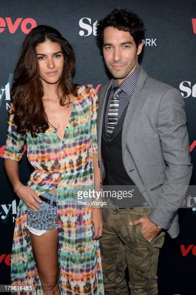 Model Cynthia Carino and Shane Duffy attend the VEVO and Styled To Rock Celebration Hosted by Actress Model and Styled to Rock Mentor Erin Wasson...