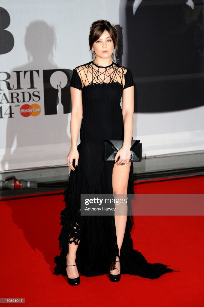 Model Daisy Lowe attends The BRIT Awards 2014 at 02 Arena on February 19, 2014 in London, England.