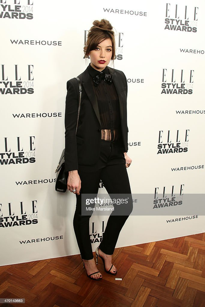 Model Daisy Lowe attends the Elle Style Awards 2014 at one Embankment on February 18, 2014 in London, England.