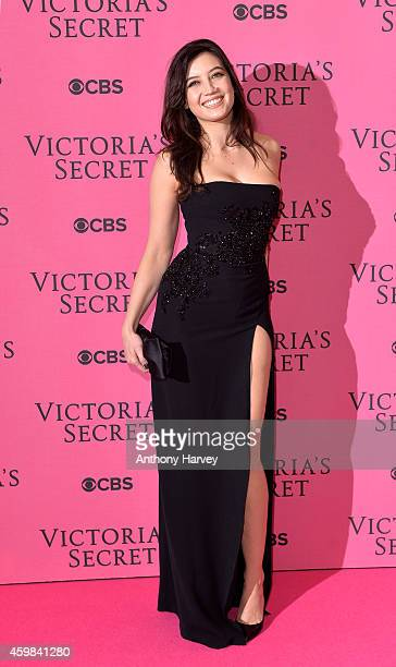 Model Daisy Lowe attends the pink carpet of the 2014 Victoria's Secret Fashion Show on December 2 2014 in London England