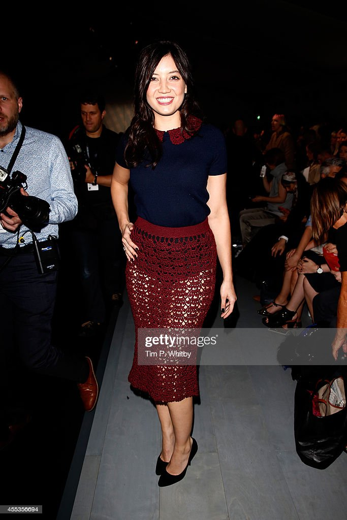 Model Daisy Lowe attends the SIBLING show during London Fashion Week Spring Summer 2015 at Somerset House on September 13 2014 in London England