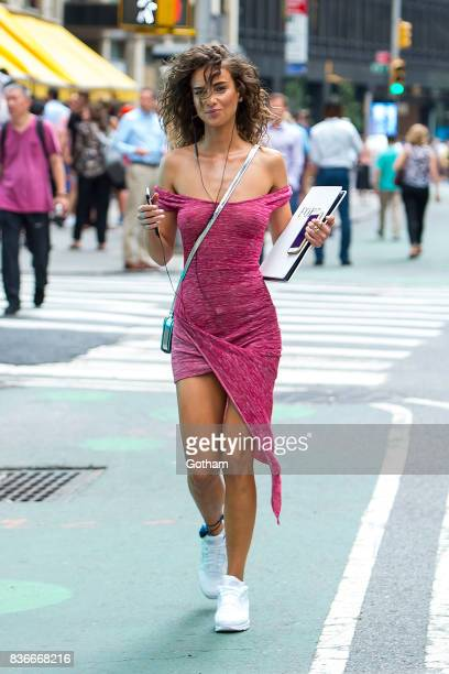 Model Dalia Savic attends call backs for the 2017 Victoria's Secret Fashion Show in Midtown on August 21 2017 in New York City