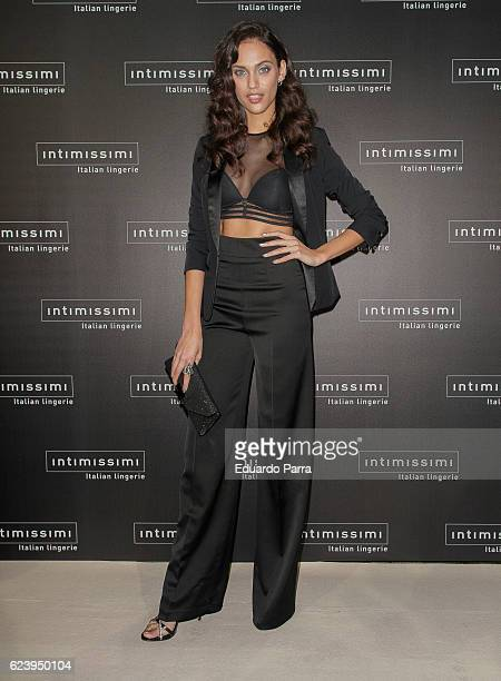 Model Dalianah Arekion attends the 'Intimissimi 20 years anniversary' photocall at Italian embassy in Spain on November 17 2016 in Madrid Spain