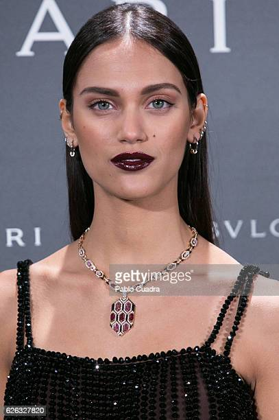 Model Dalianah Arekion attends the opening of the exhibition 'Bulgari and Roma' at Italian Embassy on November 28 2016 in Madrid Spain