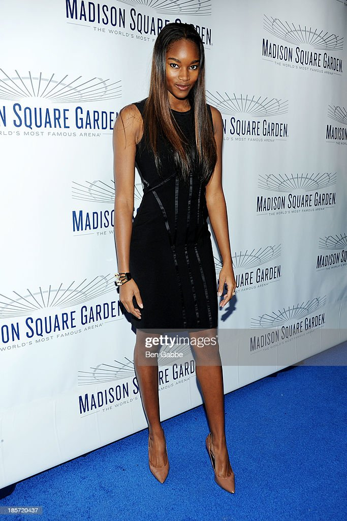 Model <a gi-track='captionPersonalityLinkClicked' href=/galleries/search?phrase=Damaris+Lewis&family=editorial&specificpeople=4488492 ng-click='$event.stopPropagation()'>Damaris Lewis</a> attends the Madison Square Garden Transformation Unveiling at Madison Square Garden on October 24, 2013 in New York City.