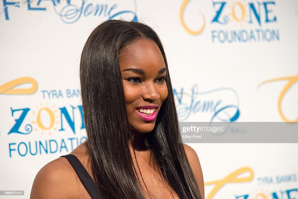 Model <a gi-track='captionPersonalityLinkClicked' href=/galleries/search?phrase=Damaris+Lewis&family=editorial&specificpeople=4488492 ng-click='$event.stopPropagation()'>Damaris Lewis</a> attends Tyra Banks' Flawsome Ball 2014 at Cipriani Wall Street on May 6, 2014 in New York City.