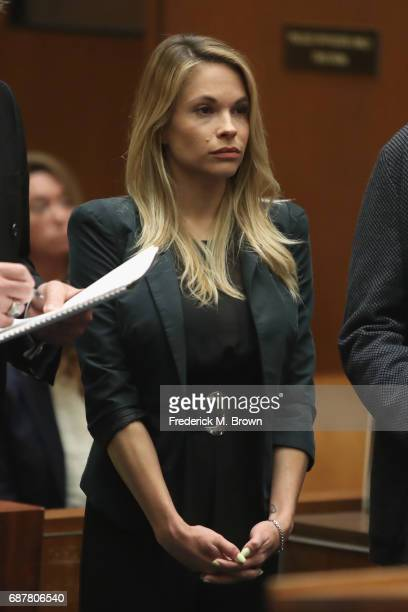 Model Dani Mathers attends a hearing at Clara Shortridge Foltz Criminal Justice Center on May 24 2017 in Los Angeles California Mathers is facing...