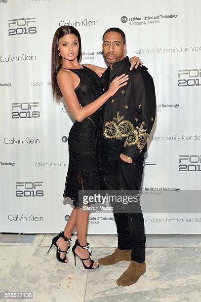 Model Daniela Braga and musician Ryan Leslie attend the 2016 Future of Fashion Runway Show at The Fashion Institute of Technology on May 5 2016 in...