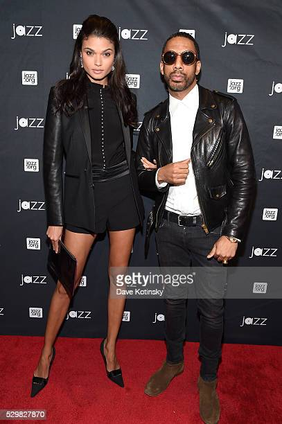 Model Daniela Braga and recording artist and producer Ryan Leslie attend the Jazz at Lincoln Center 2016 Gala 'Jazz and Broadway' honoring Diana and...