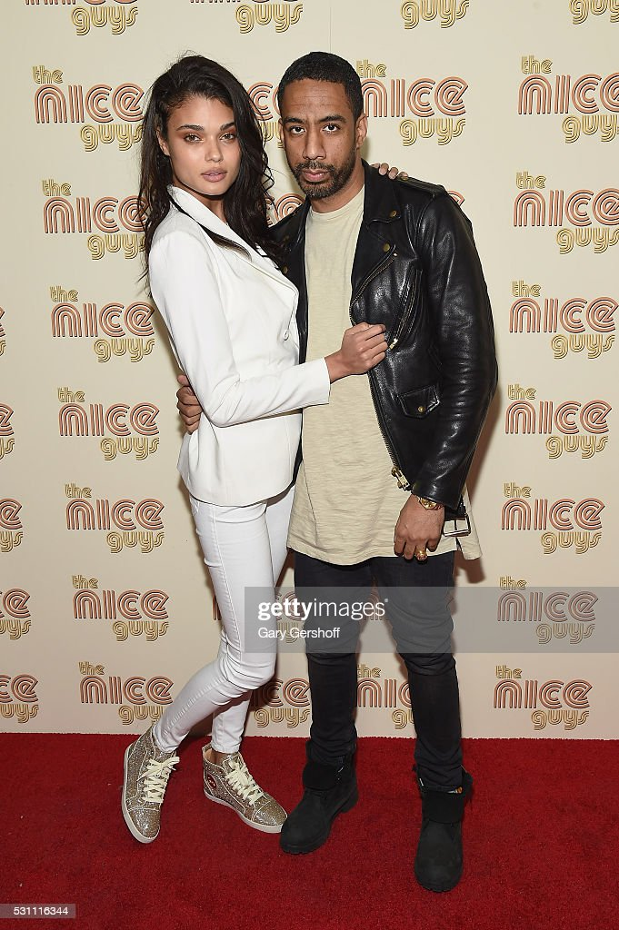 Model Daniela Braga and singer/producer Ryan Leslie attend 'The Nice Guys' New York screening at Metrograph on May 12, 2016 in New York City.