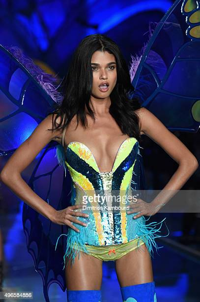 Model Daniela Braga from Brazil walks the runway during the 2015 Victoria's Secret Fashion Show at Lexington Avenue Armory on November 10 2015 in New...