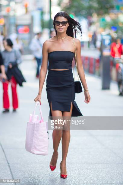 Model Daniela Braga is seen going to fittings for the 2017 Victoria's Secret Fashion Show in Midtown on August 30 2017 in New York City