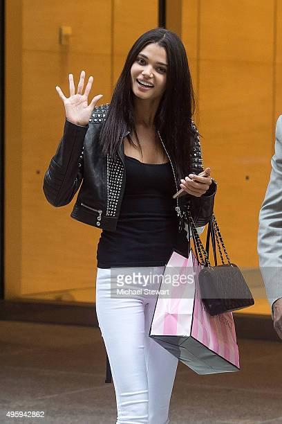 Model Daniela Braga is seen in Midtown on November 5 2015 in New York City