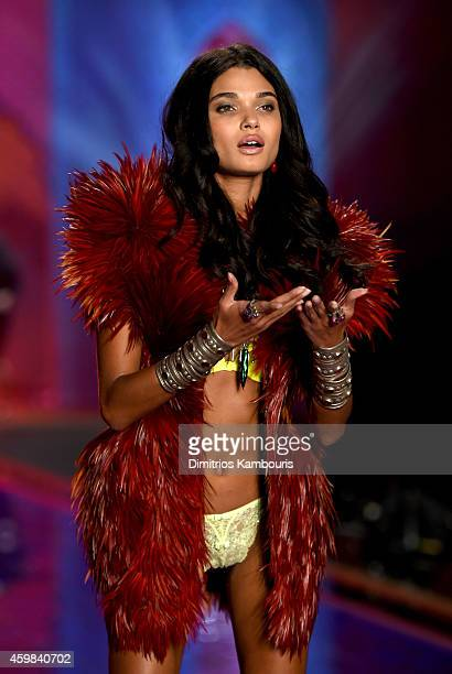 Model Daniela Braga walks the runway during the 2014 Victoria's Secret Fashion Show at Earl's Court Exhibition Centre on December 2 2014 in London...