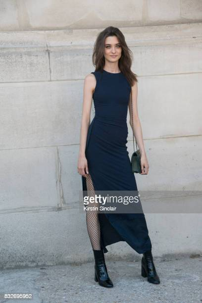 Model Daniela day 2 of Paris Haute Couture Fashion Week Autumn/Winter 2017 on July 3 2017 in Paris France