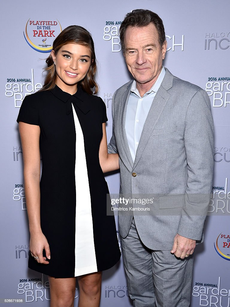 Model Daniela Lopez and actor Bryan Cranston attend the Garden Brunch prior to the 102nd White House Correspondents' Association Dinner at the Beall-Washington House on April 30, 2016 in Washington, DC.