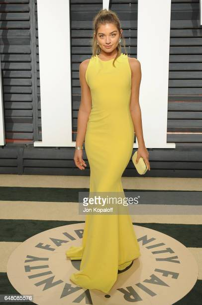 Model Daniela Lopez Osorio arrives at the 2017 Vanity Fair Oscar Party Hosted By Graydon Carter at Wallis Annenberg Center for the Performing Arts on...