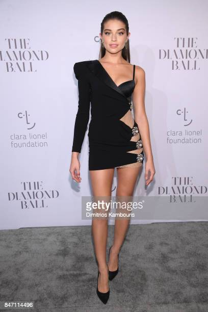 Model Daniela Lopez Osorio attends Rihanna's 3rd Annual Diamond Ball Benefitting The Clara Lionel Foundation at Cipriani Wall Street on September 14...