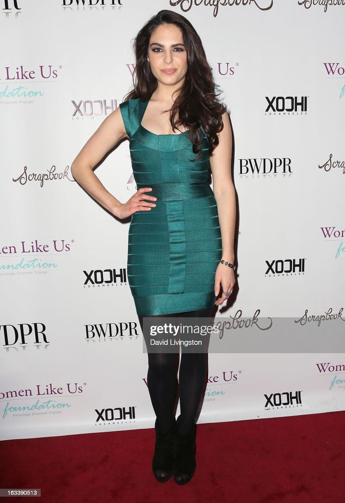 Model Danielle Ricci attends a Pre-LAFW benefit in support of the Women Like Us Foundation at Lexington Social House on March 8, 2013 in Hollywood, California.