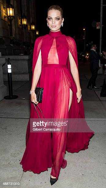 Model Daphne Groeneveld attends 2015 Harper's BAZAAR ICONS Event at The Plaza Hotel on September 16 2015 in New York City