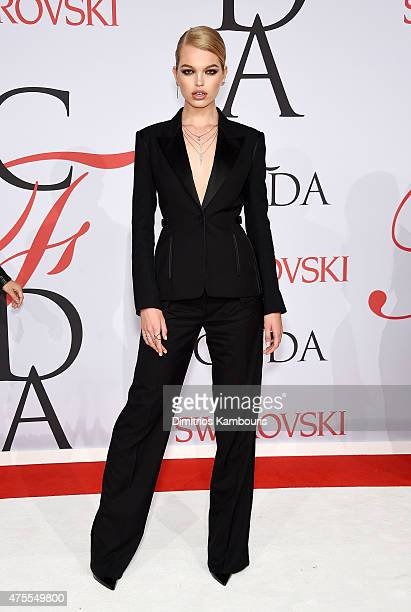Model Daphne Groeneveld attends the 2015 CFDA Fashion Awards at Alice Tully Hall at Lincoln Center on June 1 2015 in New York City
