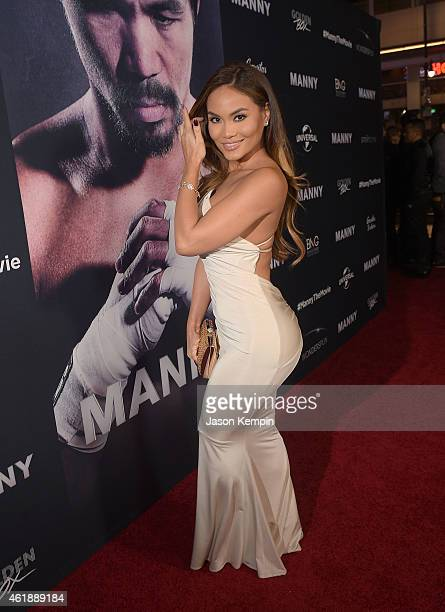 Model Daphne Joy attends the premiere of 'Manny' at TCL Chinese Theatre on January 20 2015 in Hollywood California