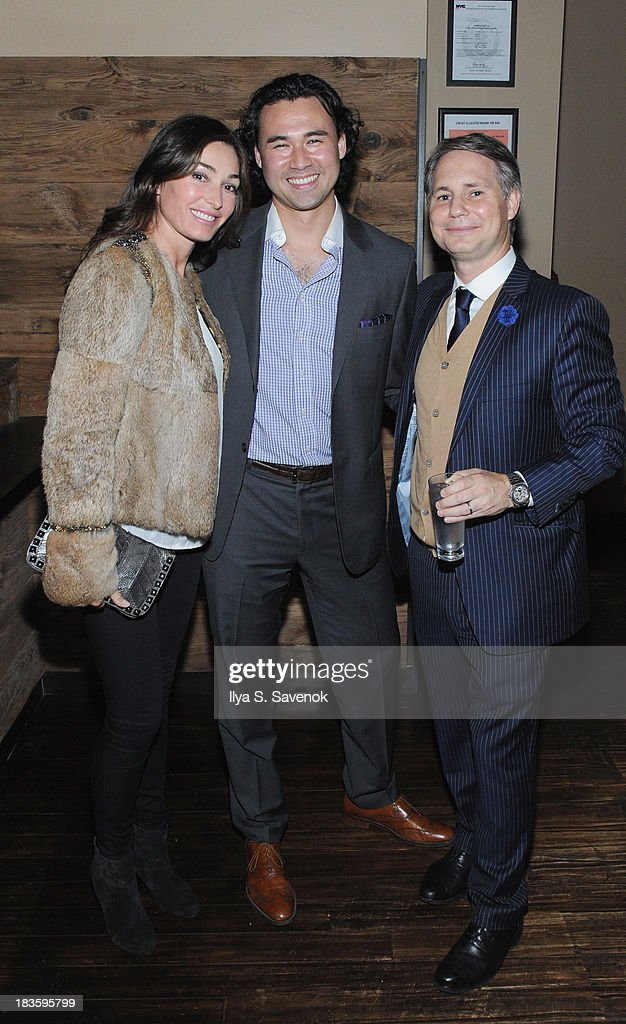 Model Dara Tomanovich, pioneer in Asian cuisine Toranosuke Matsuoka and founder of DuJour Media Group <a gi-track='captionPersonalityLinkClicked' href=/galleries/search?phrase=Jason+Binn&family=editorial&specificpeople=204684 ng-click='$event.stopPropagation()'>Jason Binn</a> pose for a photo as <a gi-track='captionPersonalityLinkClicked' href=/galleries/search?phrase=Jason+Binn&family=editorial&specificpeople=204684 ng-click='$event.stopPropagation()'>Jason Binn</a> & Toranosuke Matsuoka debut the new fall homecoming menu at SEN NYC on October 7, 2013 in New York City.