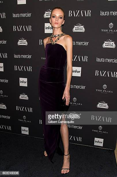 Model Daria Strokous attends Harper's BAZAAR Celebrates 'ICONS By Carine Roitfeld' at The Plaza Hotel on September 9 2016 in New York City
