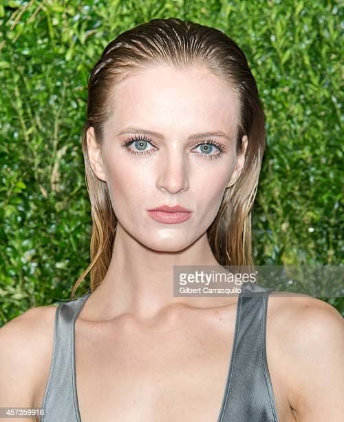 Model Daria Strokous attends the 2014 God's Love We Deliver Golden Heart Awards at Spring Studios on October 16 2014 in New York City