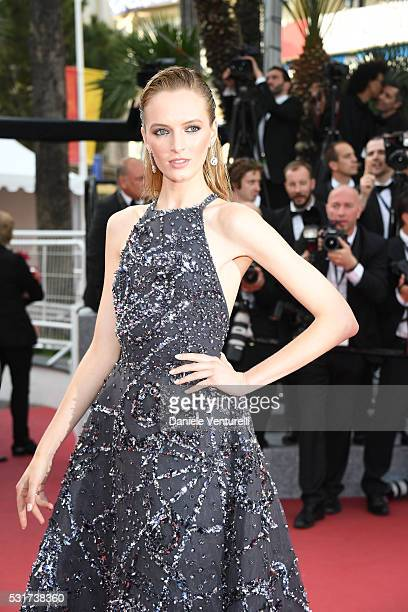 Model Daria Strokous attends the 'Loving' premiere during the 69th annual Cannes Film Festival at the Palais des Festivals on May 16 2016 in Cannes