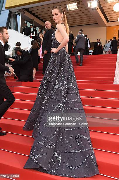Model Daria Strokous attends the 'Loving' premiere during the 69th annual Cannes Film Festival at the Palais des Festivals on May 16 2016 in Cannes...