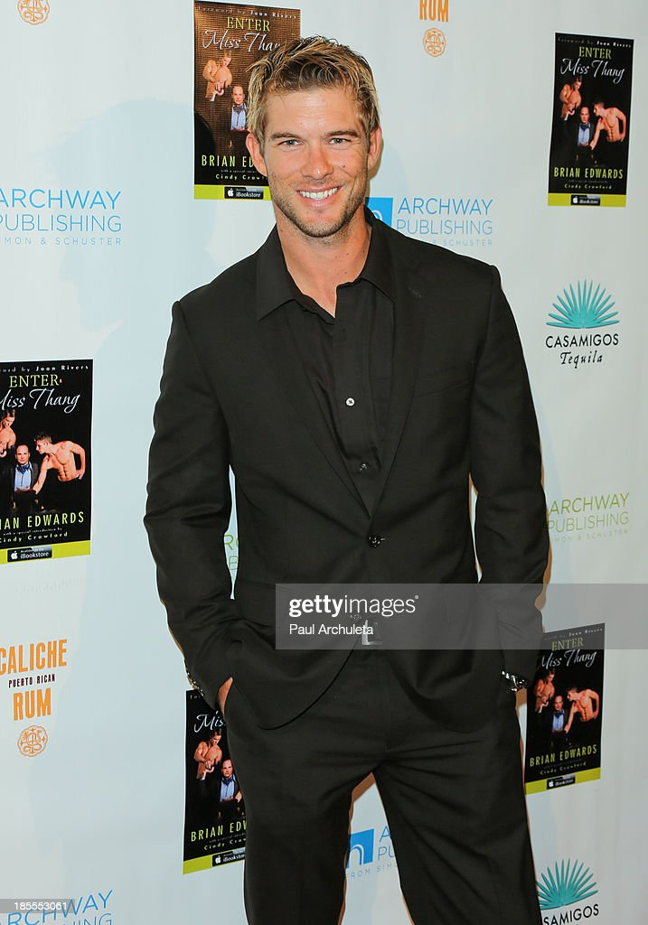 Model David Filipiak attends the launch party for Brian Edwards' new book 'Enter Miss Thang' at Cafe Habana on October 21, 2013 in Malibu, California.