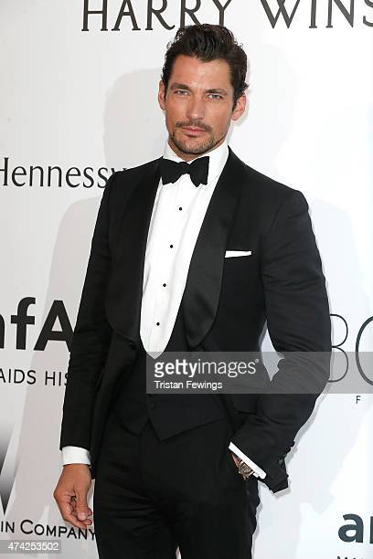 Model David Gandy attends amfAR's 22nd Cinema Against AIDS Gala Presented By Bold Films And Harry Winston at Hotel du CapEdenRoc on May 21 2015 in...