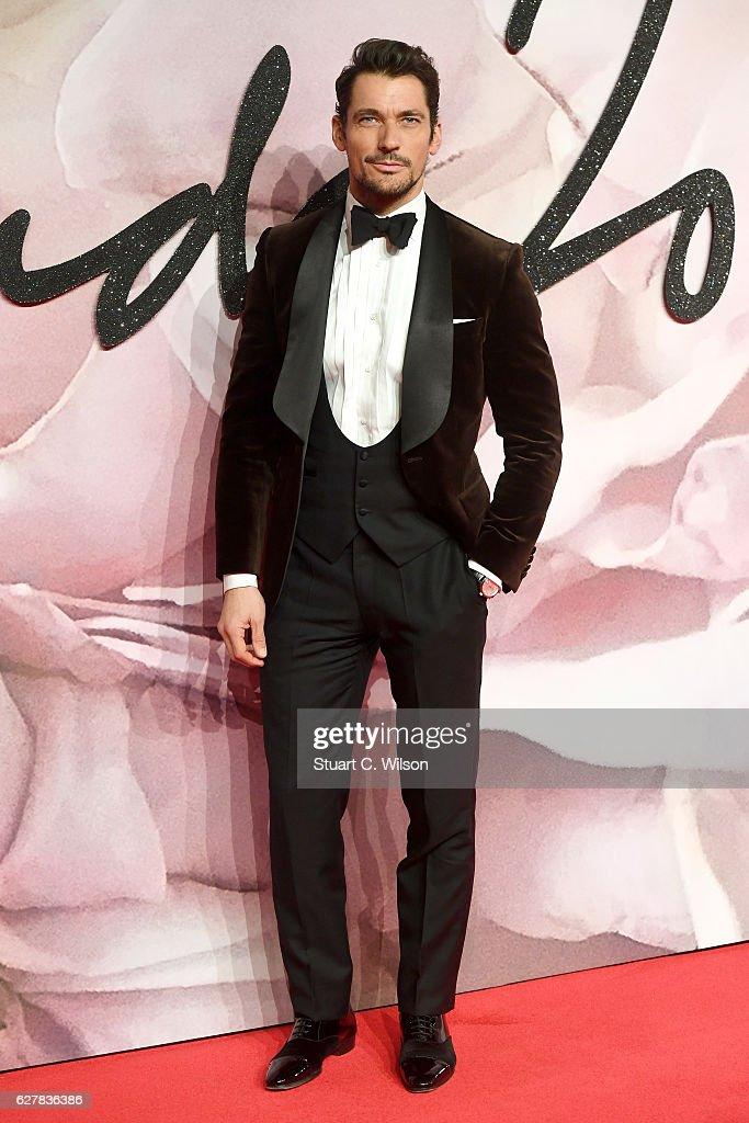 Model David Gandy attends The Fashion Awards 2016 on December 5, 2016 in London, United Kingdom.