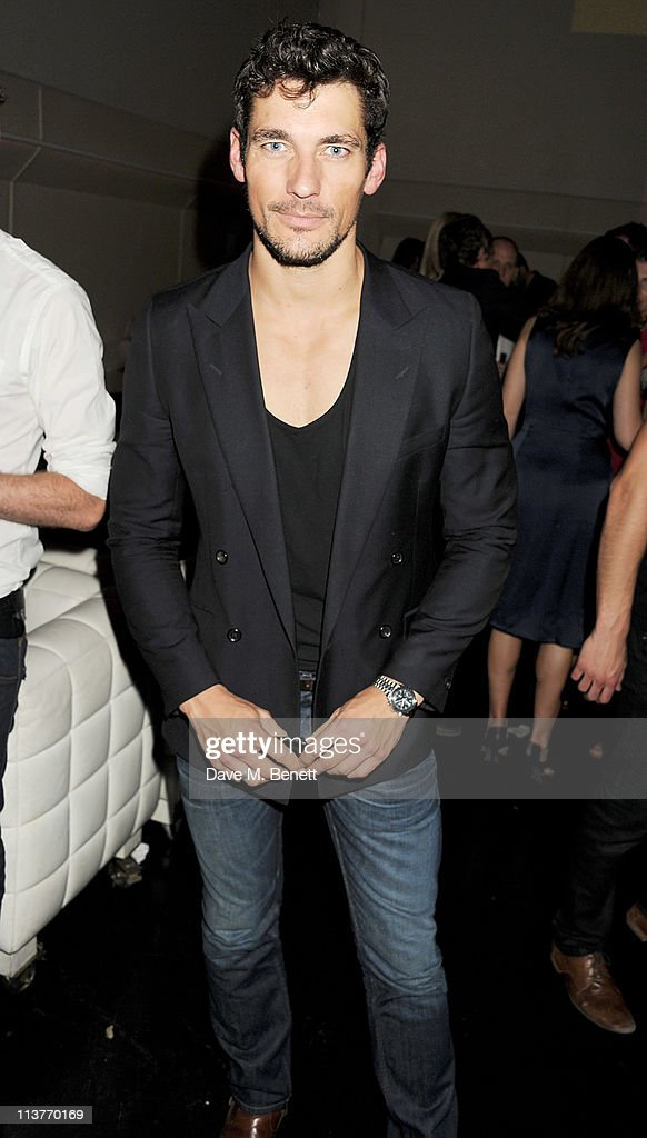 Model <a gi-track='captionPersonalityLinkClicked' href=/galleries/search?phrase=David+Gandy&family=editorial&specificpeople=4377663 ng-click='$event.stopPropagation()'>David Gandy</a> attends the launch of Esquire Magazine's June issue hosted by the magazine's new editor Alex Bilmes and singer Lily Allen on May 5, 2011 in London, England.