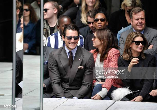 Model David Gandy attends the rag bone show during the London Collections MEN SS14 at Farmiloe Building on June 17 2013 in London England