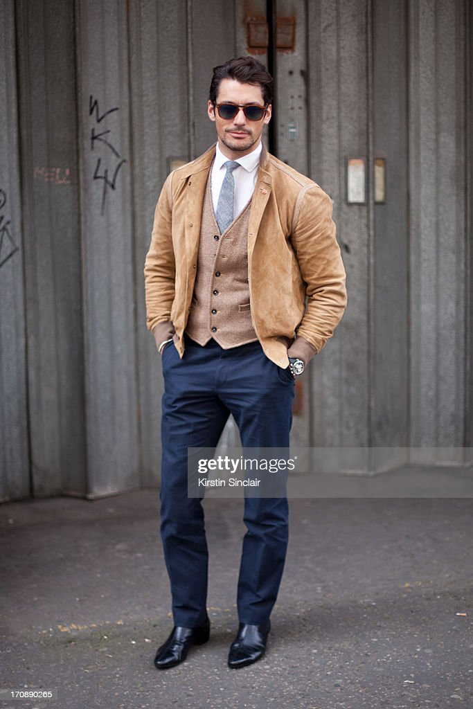 Model David Gandy on day 3 of London Collections: Men on June 18, 2013 in London, England.