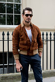 Model David Gandy wears a Club Monaco jacket on day 3 of London Collections Men on June 14 2015 in London England