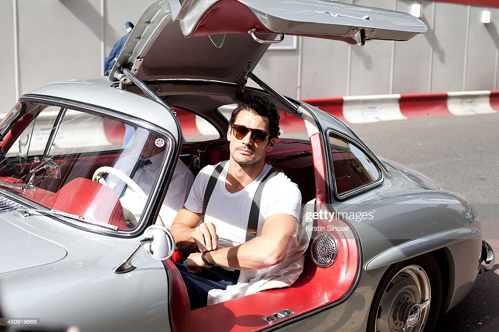 Model <a gi-track='captionPersonalityLinkClicked' href=/galleries/search?phrase=David+Gandy&family=editorial&specificpeople=4377663 ng-click='$event.stopPropagation()'>David Gandy</a> wears <a gi-track='captionPersonalityLinkClicked' href=/galleries/search?phrase=David+Gandy&family=editorial&specificpeople=4377663 ng-click='$event.stopPropagation()'>David Gandy</a> for Neil Fennell on day 3 of London Collections: Men on June 17, 2014 in London, England.
