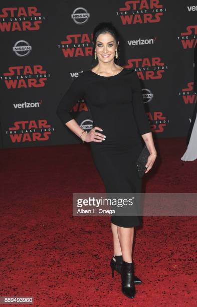 Model Dayanara Torres arrives for the Premiere Of Disney Pictures And Lucasfilm's 'Star Wars The Last Jedi' held at The Shrine Auditorium on December...
