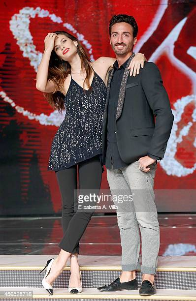 Model Dayane Mello and her dance partner Samuel Peron attend 'Ballando Con Le Stelle' press conference photocall at Auditorium Rai on October 2 2014...