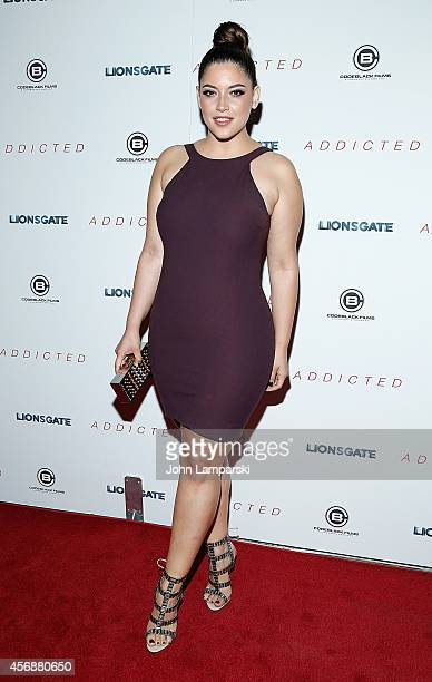 Model Denise Bidot attends 'Addicted' New York Premiere at Regal Union Square on October 8 2014 in New York City