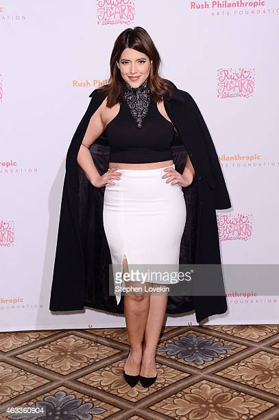 Model Denise Bidot attends Russell Simmons' Rush Philanthropic Arts Foundation's annual Rush HeARTS Education Valentine's Luncheon at The Plaza Hotel...
