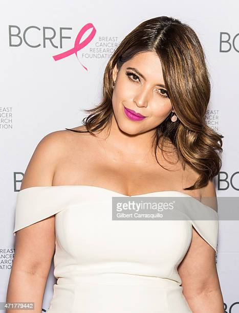 Model Denise Bidot attends The Breast Cancer Research Foundation 2015 Pink Carpet Party at The Waldorf=Astoria on April 30 2015 in New York City