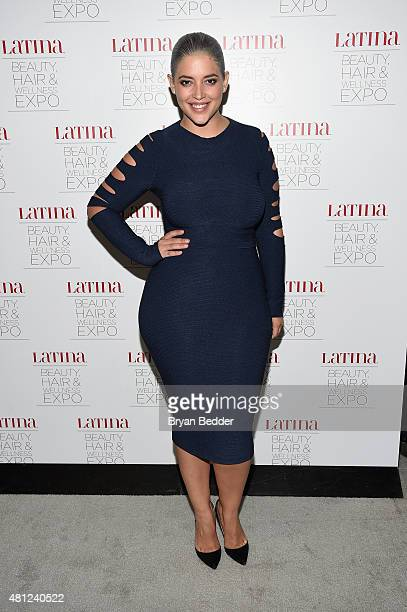 Model Denise Bidot attends the Latina Beauty Hair Wellness Expo presented by Latina Media Ventures at Meadowlands Exposition Center on July 18 2015...