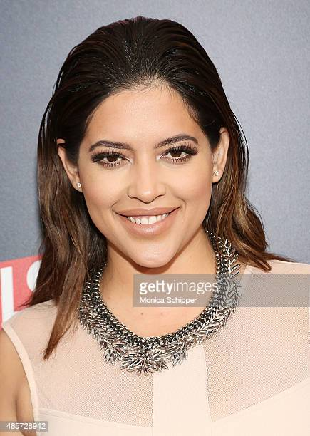 Model Denise Bidot attends 'The Royals' New York Series Premiere at The Standard Highline on March 9 2015 in New York City