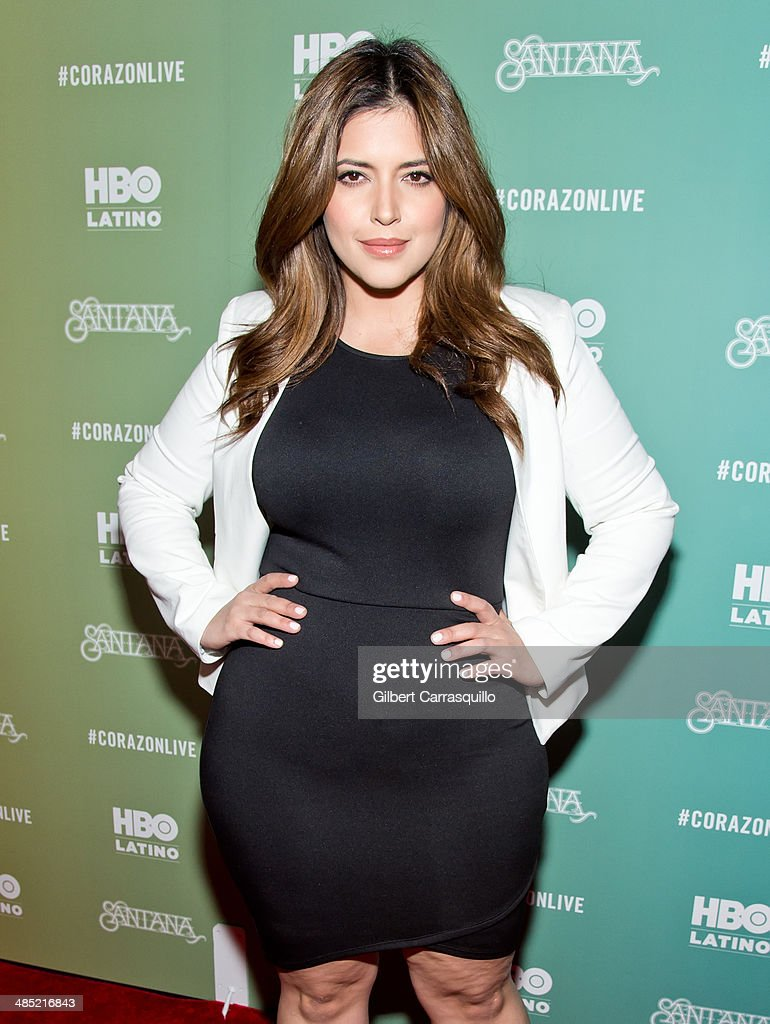 Model <a gi-track='captionPersonalityLinkClicked' href=/galleries/search?phrase=Denise+Bidot&family=editorial&specificpeople=10860923 ng-click='$event.stopPropagation()'>Denise Bidot</a> attends the 'Santana De Corazon' screening at The Hudson Theatre on April 16, 2014 in New York City.