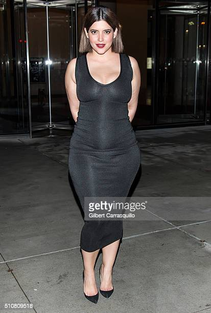 Model Denise Bidot is seen leaving Sports Illustrated Swimsuit 2016 NYC VIP press event at Brookfield Place on February 16 2016 in New York City