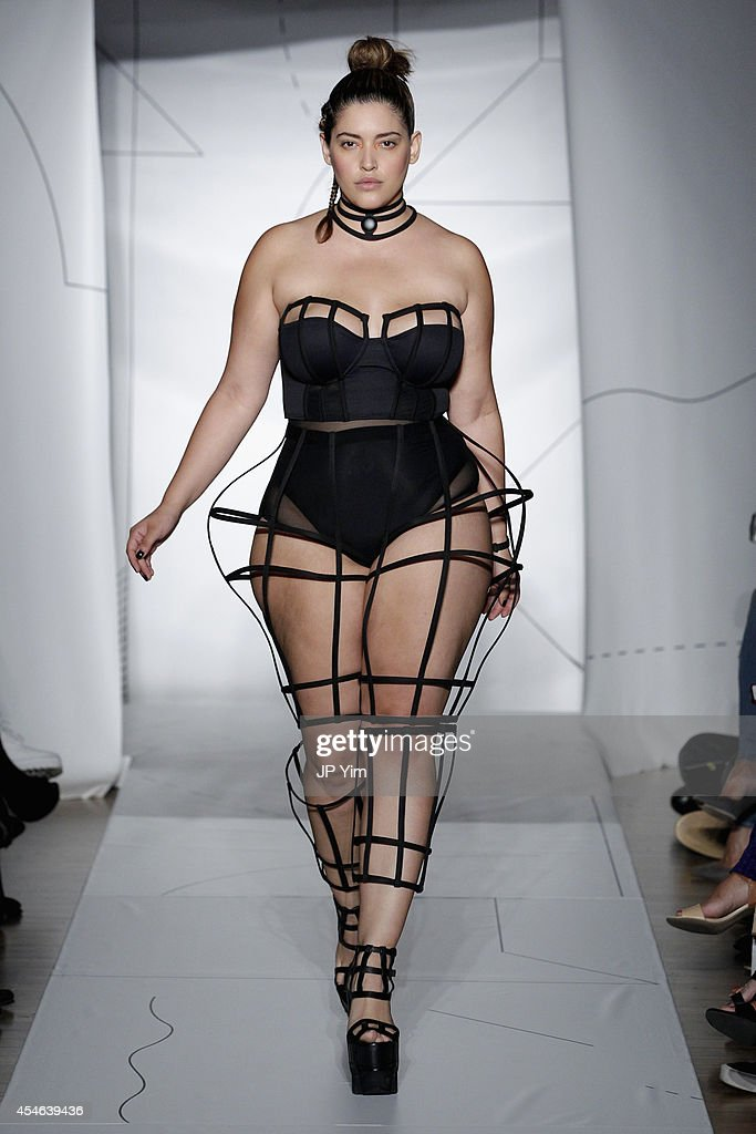Model <a gi-track='captionPersonalityLinkClicked' href=/galleries/search?phrase=Denise+Bidot&family=editorial&specificpeople=10860923 ng-click='$event.stopPropagation()'>Denise Bidot</a> walks the runway at the Chromat SS15 Formula 15 fashion show at The Standard Hotel on September 4, 2014 in New York City.
