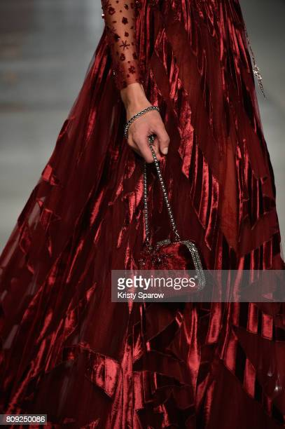 A model details walks the runway during the Maison Ziad Nakad Haute Couture Fall/Winter 20172018 show as part of Haute Couture Paris Fashion Week on...